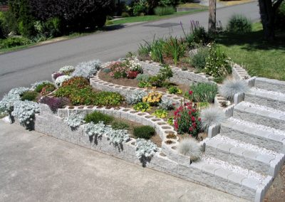 steps and flower bed 2