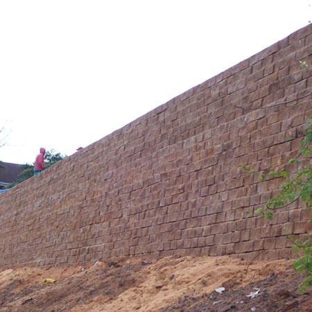 Remacon Products concrete blocks retaining walls TW1 Tensar